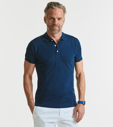 566M Russell Polo uomo stretch slim fit tessuto piquet di alta qualità