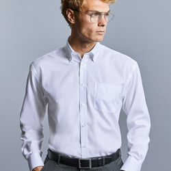 "R956M Russel Camicia uomo botton-down e taschino 100% cotone ""non-stiro"". Corporate, Fiere, Eventi."