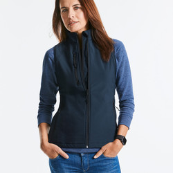 Gilet donna softshell a tre strati con tasca frontale