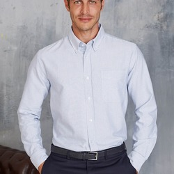 Camicia uomo button-down 100%oxford cotone