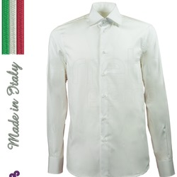 Camicia corporate personalizzata uomo Made in Italy slim fit 100% cotone. Logo ricamato