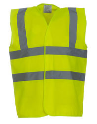 HVW100 Yoko Gilet Hi-Vis 2 Band and Brace Gilet bande rifrangenti in 24 colori