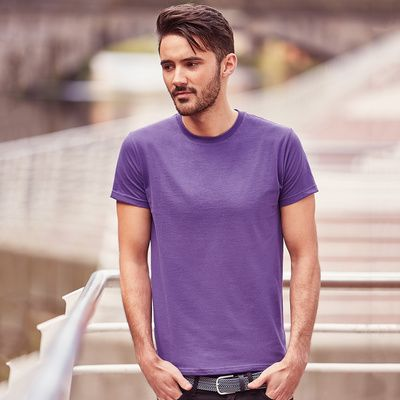 R155M Russell Men's Slim T-Shirt uomo slim-fit 100% cotone Thumbnail