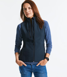 R141F Russell Gilet donna softshell a tre strati con tasca frontale