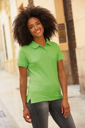 630300 Fruit Of The Loom Lady Fit Premium Polo donna slim fit 100% cotone pettinato