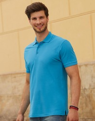 632180 Fruit of the Loom Premium Polo uomo slim fit 100% cotone