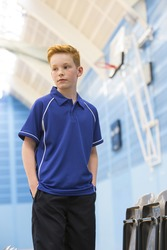LV372 Finden&Hales Kids piped performance polo poliestere bambino bicolore