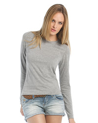 TW013 B&C Women-Only LSL T-Shirt donna manica lunga 100% cotone