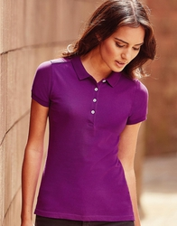 566F Russell Polo Stretch Women Polo donnastretch slim fit tessuto piquet di alta qualità