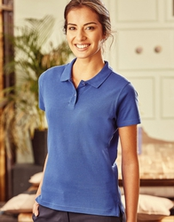 R577F Russell Ladies' Ultimate Cotton Polo donna cotone pre-ristretto lavabile a 60°