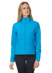 JWI63 B&C Giacca softshell donna 2 strati interno in micropile a contrasto