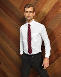 PR234 Premier Camicia uomo button-down e taschino. Taglio semi-fitted tessuto Oxford