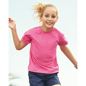 610130 Fruit of the Loom Performance Kids T-shirt Sport bimbo 100% poliestere Thumbnail