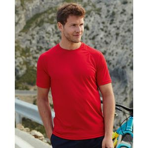 613900 Fruit of the Loom Performance T-shirt Uomo Sport manica raglan 100% poliestere Thumbnail