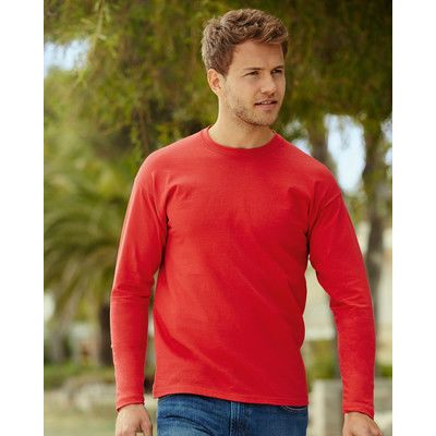 610380 Fruit of the Loom Valueweight Long Sleeve T-Shirt manica lunga 100% cotone Thumbnail