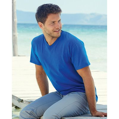 610660 Fruit of the Loom Valueweight V-Neck T-shirt scollo a V 100% cotone Thumbnail