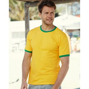 611680 Fruit of the Loom Valueweight Ringer T-Shirt bicolore Classic fit 100% cotone 160gr Thumbnail