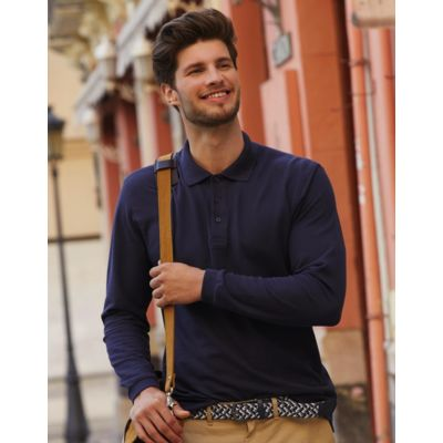 633100 Fruit of the Loom Premium Long Sleeve Polo manica lunga 100% cotone 180gr Thumbnail