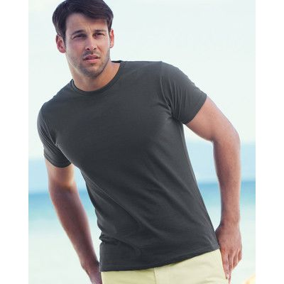612000 Fruit of the Loom Valueweight Fitted T-shirt slim-fit 100% cotone Thumbnail