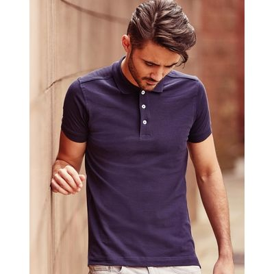 566M Russell Polo uomo stretch slim fit tessuto piquet di alta qualità Thumbnail