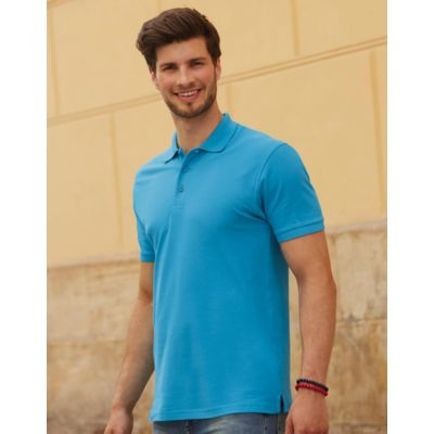 632180 Fruit of the Loom Premium Polo uomo slim fit 100% cotone Thumbnail