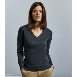 R710F Russell Pullover donna scollo a V Thumbnail