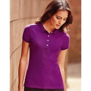 566F Russell Polo Stretch Women Polo donnastretch slim fit tessuto piquet di alta qualità Thumbnail