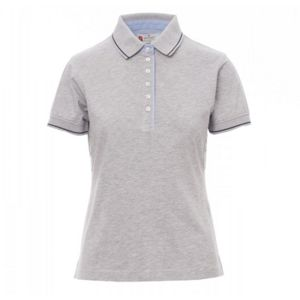 Leeds Payper Polo donna manica corta inserti in oxford Regular fit 100% cotone 175gr Thumbnail