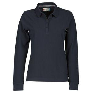 Florence Lady Payper Polo donna manica lunga polsino 4 bottoni Regular fit 100% cotone piquet 210gr Thumbnail