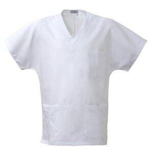9dac711478f46 MS1301 Casacca sanitaria unisex scollo a V 100% cotone Thumbnail