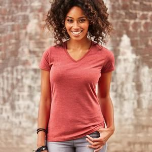 166F Russell Ladies' V-Neck HD T-shirt donna Scollo V adatta alla stampa digitale Thumbnail