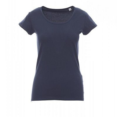 Young Lady Payper T-shirt donna private label scollo ampio 100%Cotone Thumbnail