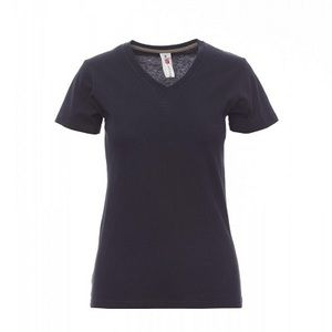 V-Neck Lady Payper T-shirt scollo a V manica corta Regular fit 100% cotone 150gr Thumbnail