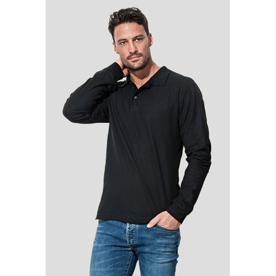 ST3400 Stedman Polo manica lunga casual fit 100% cotone Thumbnail