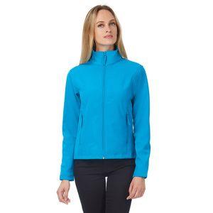 JWI63 B&C Giacca softshell donna 2 strati interno in micropile a contrasto 96% pol 4% elast Thumbnail