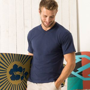 614260 Fruit of the Loom Original T-shirt scollo a V Classic fit 100% cotone 145gr Thumbnail