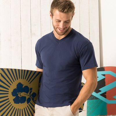 614260 Fruit of the Loom Men's Original V neck T-shirt scollo a V 100% cotone 145gr Thumbnail