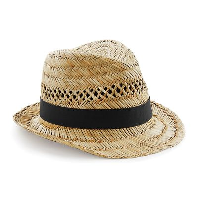 B730 Beechfield Cappello Paglia Summer Trilby Thumbnail