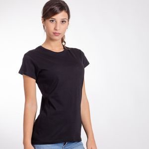 BSW150 Black Spider T-shirt donna manica corta 100% cotone single jersey 150 gr Thumbnail