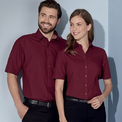 JN679 James & Nicholson Camicia donna maniche corte tessuto easy-care in 20 colori Thumbnail