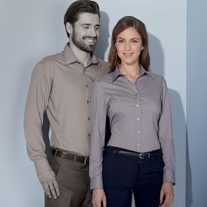 JN677 James & Nicholson Camicia donna maniche lunghe tessuto easy-care in 20 colori Thumbnail