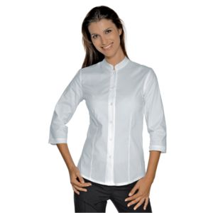 025800T Isacco Camicia donna manica a 3/4 coreana Hollywood Stretch 136 gr/m² Thumbnail