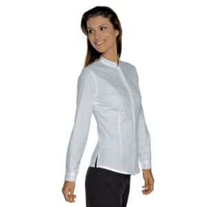 025800 Isacco Camicia donna manica lunga coreana Hollywood Stretch 136 gr/m² Thumbnail