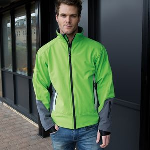 R119X Result Giacca softshell bicolore interno in microfleece Thumbnail